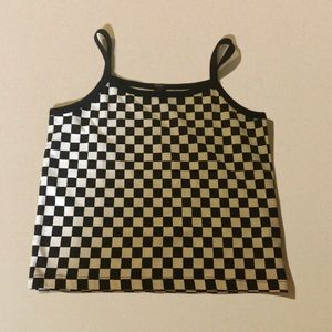 black & white checkered tank top never worn